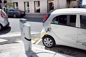 Exemple d'une borne de recharge pour véhicule électrique